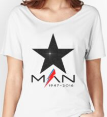 RIP Starman (David Bowie) 1947-2016 Women's Relaxed Fit T-Shirt