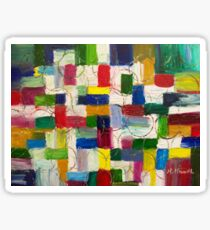 Olympics oil painting colourful abstract art Sticker