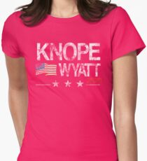 Knope 2020 Distressed Womens Fitted T-Shirt
