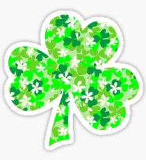 St Patrick's Day Shamrocks Sticker