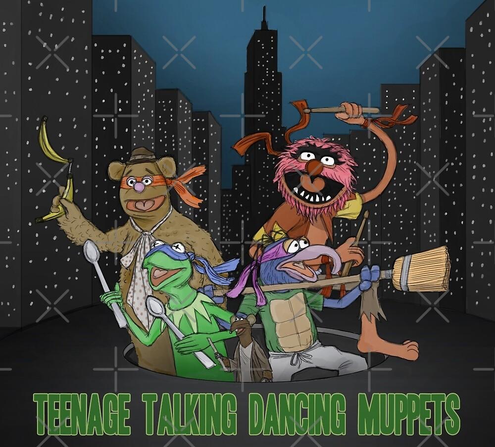 Teenage Talking Dancing Muppets by Mauro Balcazar