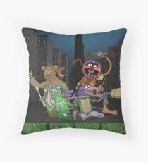 Teenage Talking Dancing Muppets Throw Pillow