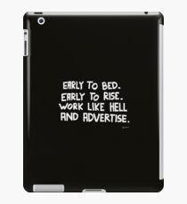 Rise and Advertise iPad Case/Skin