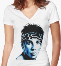 zoolander Women's Fitted V-Neck T-Shirt