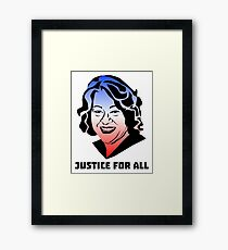 Justice for All, Sonia Sotomayor Gerahmtes Wandbild