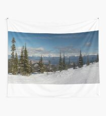 Blacktail Mountain Panorama Wall Tapestry