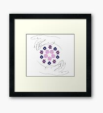 Flower Crown Framed Print