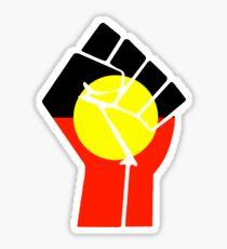 Raised Fist - Aboriginal Flag Sticker