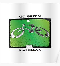 Green & Clean World Poster