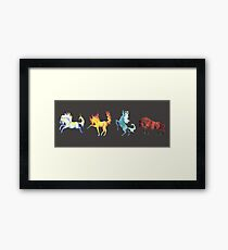 Four Horse Elements Framed Print