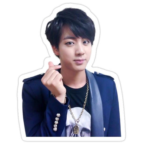 Quot Jin Kim Seokjin Bts Quot Stickers By Alex17125 Redbubble