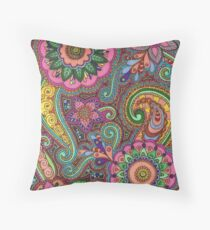 Colour Mendhi Throw Pillow