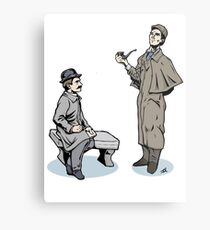 Victorian Sherlock and Watson Metal Print