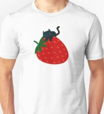 Strawberry Cat Unisex T-Shirt
