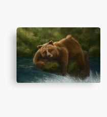 Beary Sleeping Canvas Print
