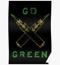 Go Green - Brass  Poster