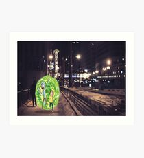 Rick and Morty in Chicago Art Print