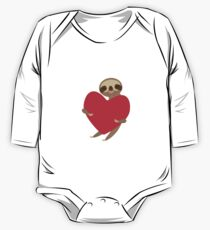 sloth with red heart One Piece - Long Sleeve