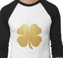 Four Leaf Clover Shamrock Gold Men's Baseball ¾ T-Shirt
