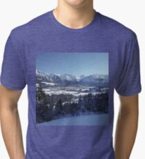 SNOWY MOUNTAINS Tri-blend T-Shirt