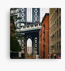Manhattan Bridge and Empire State Canvas Print