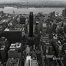 Black & White view on top of the Empire  by FroPhotos
