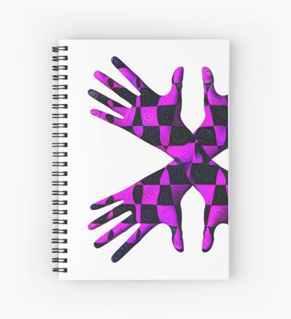 #DeepDream Gloves 5x5K v1456239375 Spiral Notebook