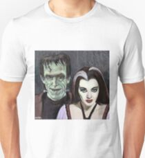 Lily and Herman Munster Unisex T-Shirt