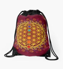 FLOWER OF LIFE, CHAKRAS, SPIRITUALITY, YOGA, ZEN,  Drawstring Bag