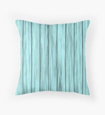 Faded Blue Beach House Throw Pillow