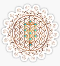 Flower of Life, Tree of Life, Kabbalah, Sephiroth Sticker