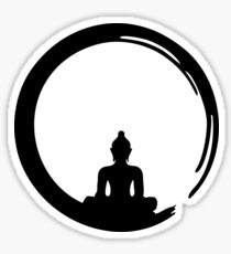 Enso Zen Circle of Enlightenment,  Meditation, Buddha, Buddhism, Japan Sticker