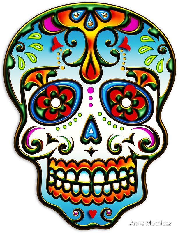 """""""Mexican Sugar Skull, Day of the Dead, Dias de los muertos ..."""