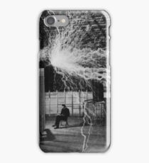 Nikola Tesla - Bolts Of Electricity iPhone Case/Skin