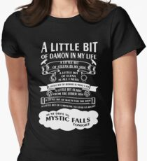 TVD Song (b/w) Womens Fitted T-Shirt