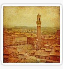 Vintage Tuscany, Siena aerial view Sticker