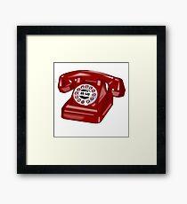 Phone Call Framed Print