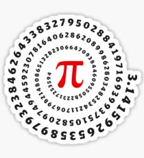 Pi, π, spiral, Science, Mathematics, Math, Irrational Number, Sequence Sticker