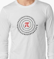 Pi, π, spiral, Science, Mathematics, Math, Irrational Number, Sequence Long Sleeve T-Shirt