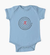 Pi, π, spiral, Science, Mathematics, Math, Irrational Number, Sequence One Piece - Short Sleeve