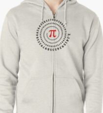 Pi, π, spiral, Science, Mathematics, Math, Irrational Number, Sequence Zipped Hoodie