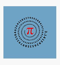 Pi, π, spiral, Science, Mathematics, Math, Irrational Number, Sequence Photographic Print