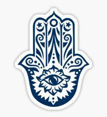 Hamsa - Hand of Fatima, protection amulet, symbol of strength and happiness Sticker