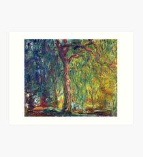 1918-Claude Monet-Weeping Willow-99 x 120 Art Print