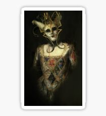 Dark Carnival, vintage mask fantasy Sticker