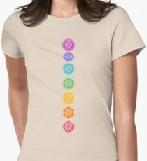 7 Chakras - Cosmic Energy Centers  Womens Fitted T-Shirt