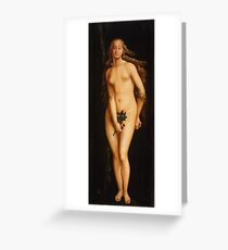 Hans Baldung Grien - Eve 1525 , Fashion Portrait Greeting Card