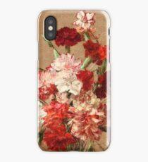 Henri Fantin-Latour - Carnations without Vase 1899 , Still Life iPhone Case/Skin
