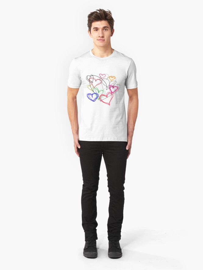 Alternate view of Painting Love Slim Fit T-Shirt