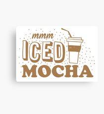 mmm ICED mocha Canvas Print